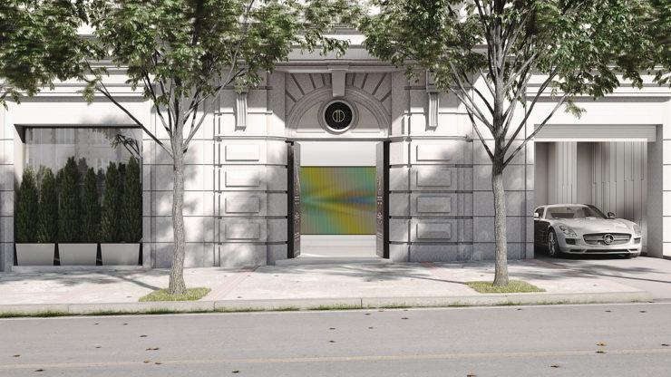 recreación de l fachada principal de Montalbán 11 en Madrid
