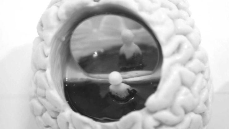 Detalle de escultura cerebral de Lidó Rico