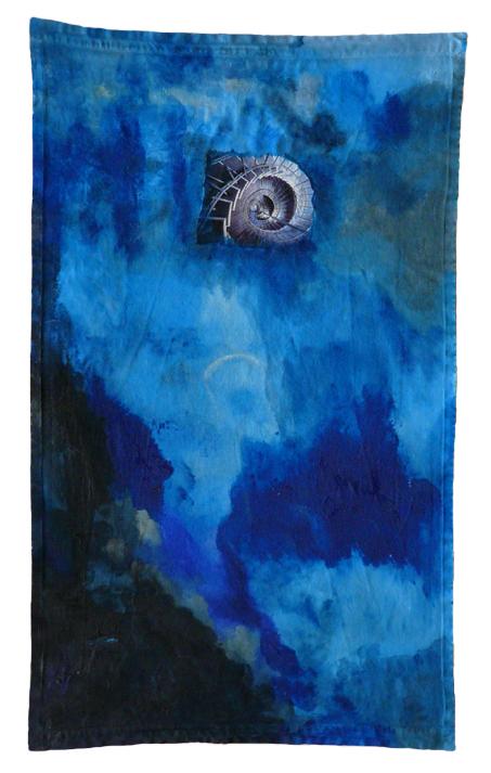 Máxima Romero, nº9 Serie Servilletas. Mixta sobre servilleta de algodón