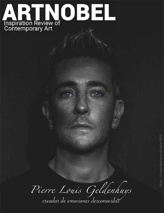 Pierre Louis Geldenhuys portada de la revista #13  ARTNOBEL Inspiration Review of Contemporary Art