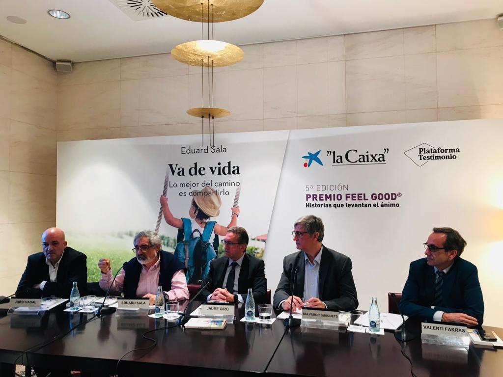 Eduard Sala ganador del Premio Feel Good 2019 entregado en CaixaForum Barcelona