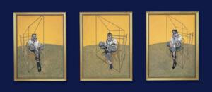 Tres estudios de Lucian Freud por Francis Bacon